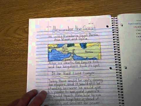 Social Studies Interactive Notebook Example