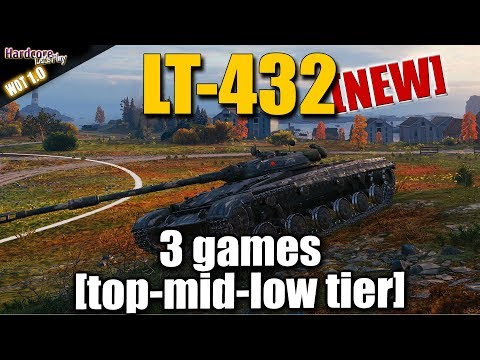 WOT: LT-432, New Russian Light Tank In Action X 3, WORLD OF TANKS