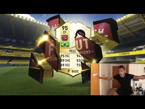 pele in a fcking pack huge fifa 17 fut champions packs