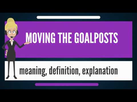 What is MOVING THE GOALPOSTS? What does MOVING THE GOALPOSTS mean? MOVING THE GOALPOSTS meaning