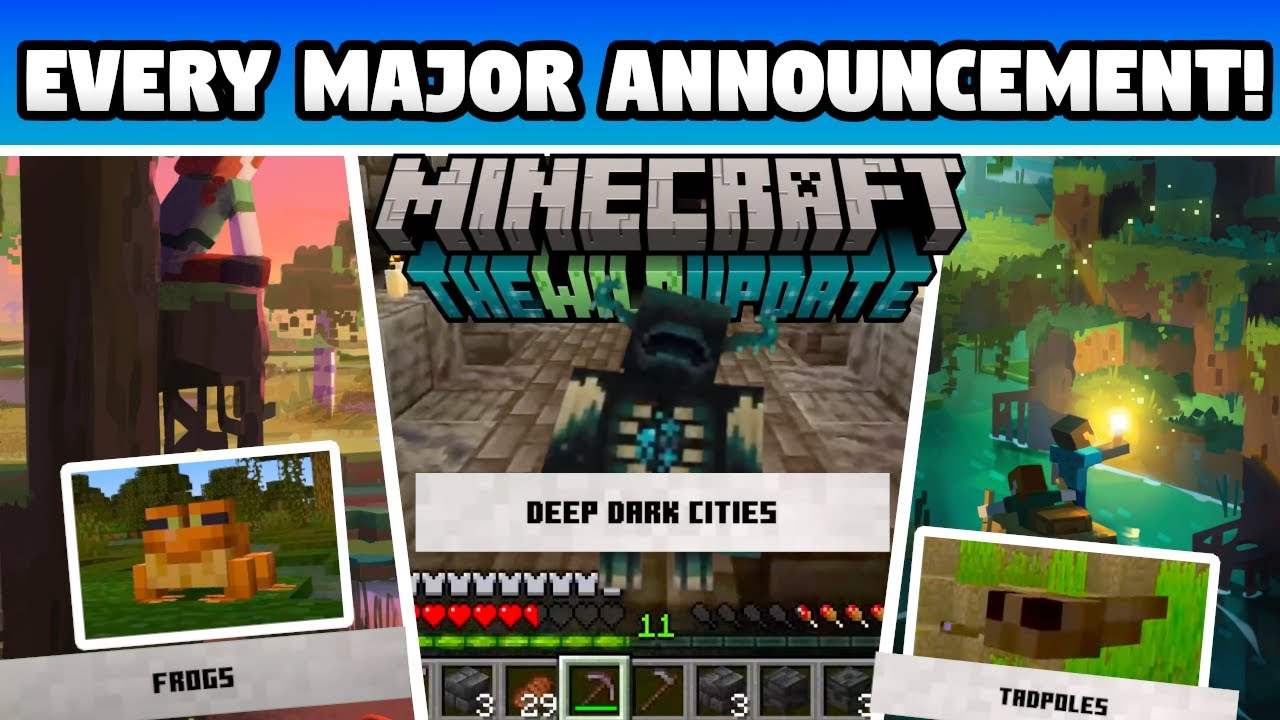 Minecraft 1.19 The Wild Update! (EVERY MAJOR ANNOUNCEMENT!)