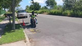 DMV circles and figure eights at ltr motorsports motorcycle school in staten island ny 10309