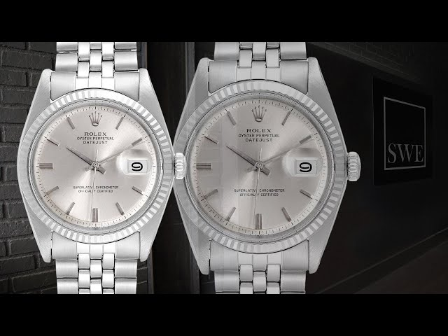 Rolex Datejust Steel White Gold Silver Dial Vintage Mens Watch 1601 | SwissWatchExpo