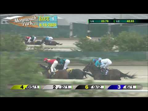 video thumbnail for MONMOUTH PARK 08-16-20 RACE 1