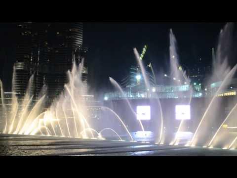 Wasserspiele auf dem Arabischen Musik - Dubai - 07.02.2015