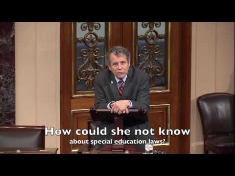 Why Sherrod Brown did not support Betsy DeVos