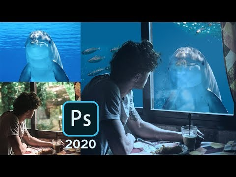 The Dolphin - Photoshop 2020 Photo Manipulation and Color Correction Tutorial. thumbnail