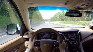 【Test Drive】2017 New Cadillac ESCALADE Platinum 4WD - POV City Drive