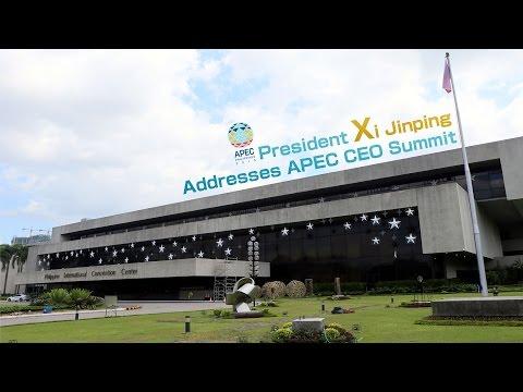 President Xi Jinping addresses APEC CEO Summit