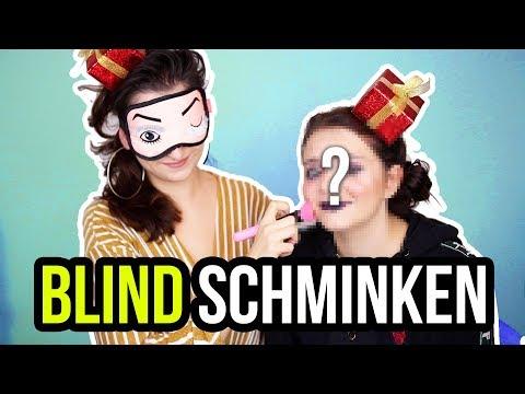 BLIND SCHMINKEN CHALLENGE - LAURA schminkt ALLY blind! :D - unlikely