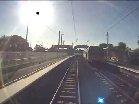 DEATH CHEATED on CCTV: Man's INCREDIBLE near miss with train on level crossing