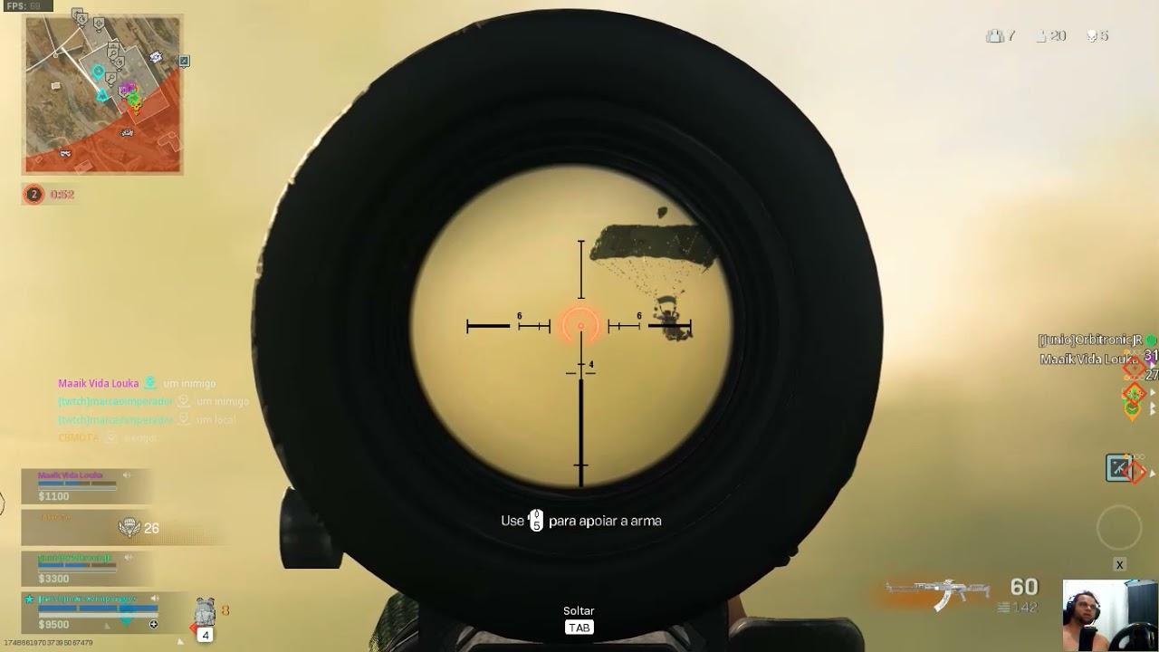 Call of Duty  Modern Warfare/warzone, uma das melhores partidas pena q nao teve gg.
