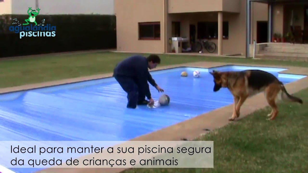 Cobertura agualandia de piscina manual em pvc youtube for Piscinas desmontables de pvc