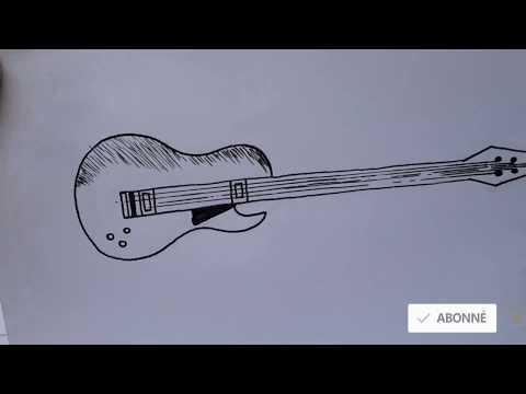 Comment Dessiner Une Guitare Facilement