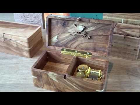 Lovers Concerto. Wind up music box from wood