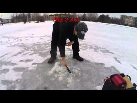 ice auger freight harbor homemade hole fishing generator using diy without making