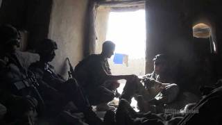 INTENSE COMBAT: U.S. Marines react to a surprise TALIBAN attack