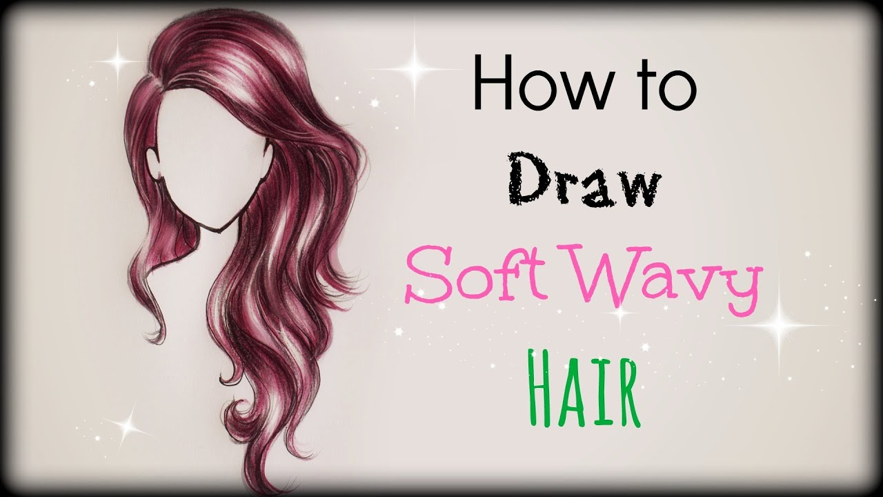 Drawing Tutorial How To Draw And Color Soft Wavy Hair Front View