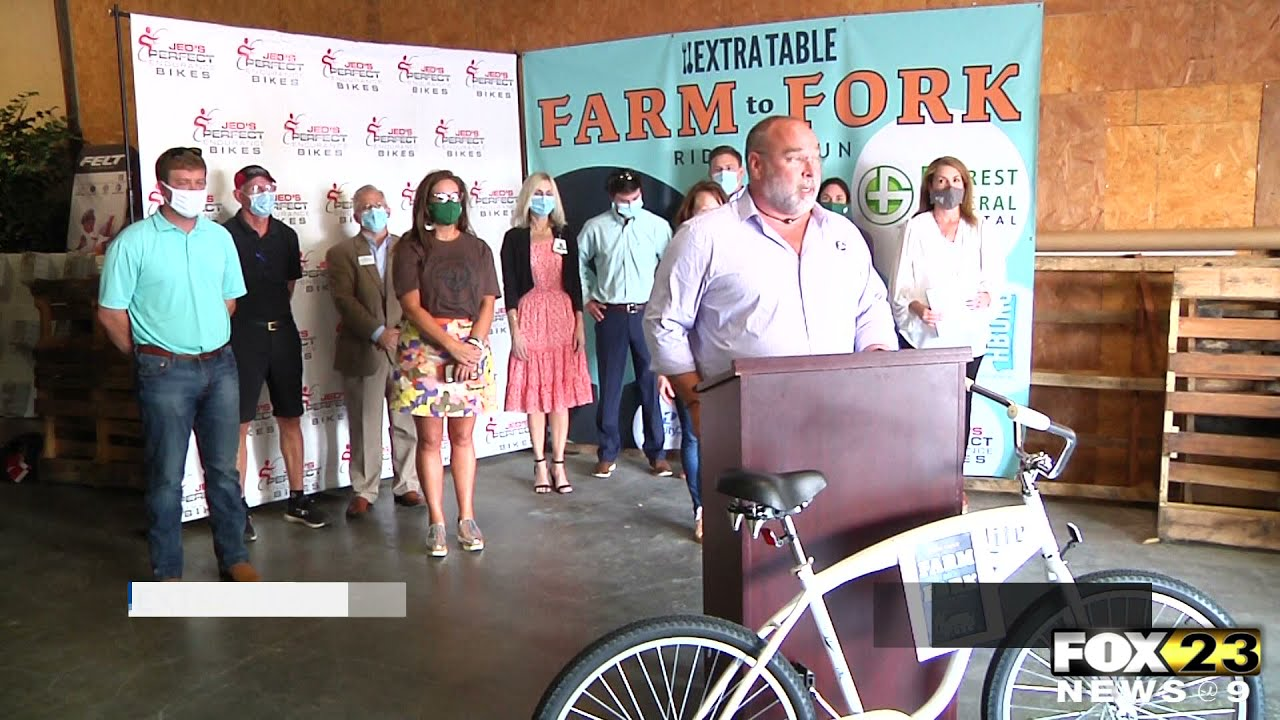 Extra Table to host Farm to Fork Ride and Run