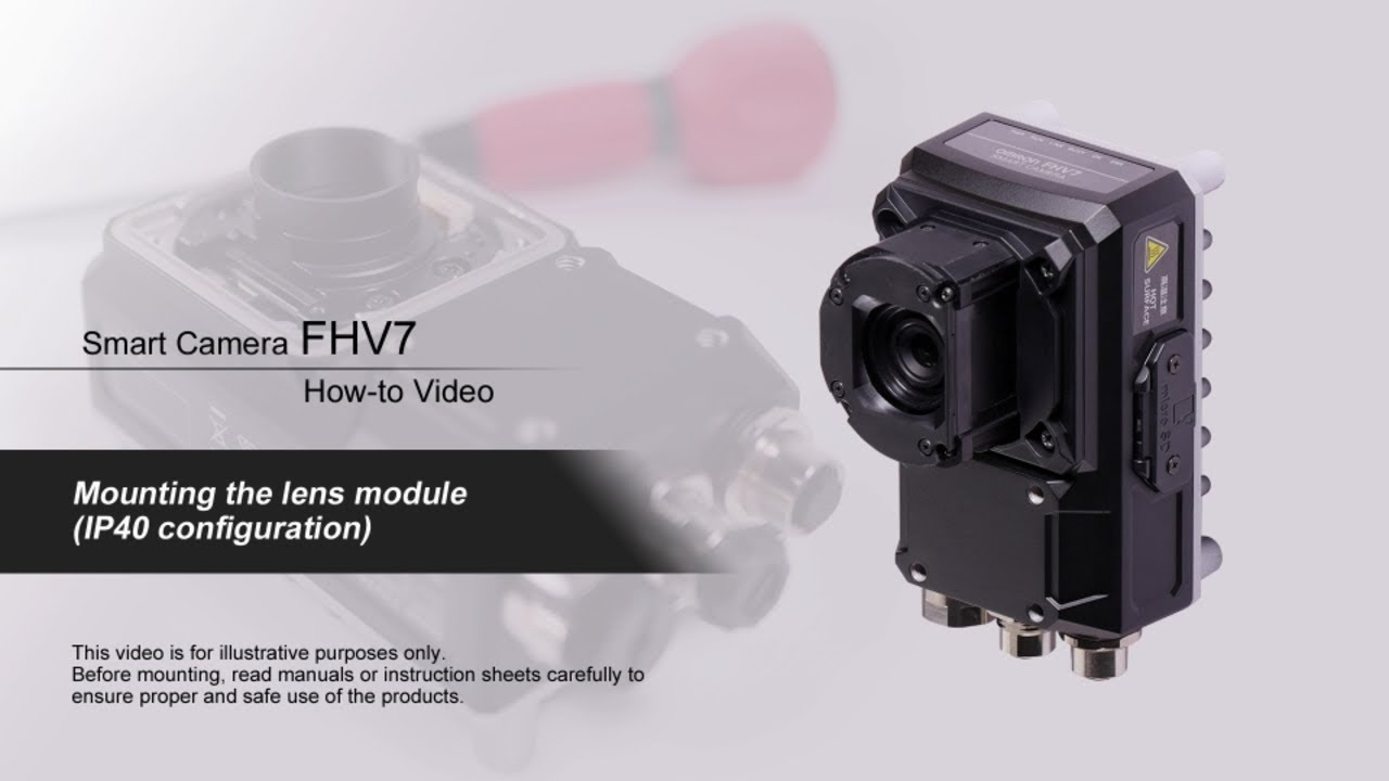 FHV7 How-to Video : Mounting the lens module