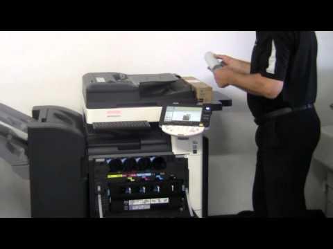 How to Replace Toner Cartridges in bizhub C220/C280/C360