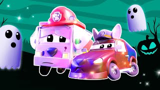 1H Halloween Cartoons kids compilation with trucks | Scary haunted Car City | Cartoons For Children