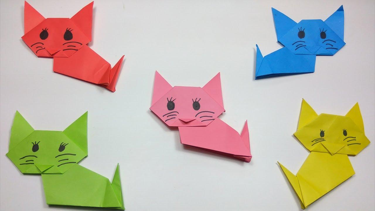 origami cat | Origami, Basteln anleitung, Origami katze | 720x1280
