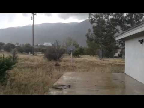 Rain In Pinyon Pines California