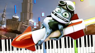 Crazy Frog - Axel F Meme Song (OST Beverly Hills Cop) Piano Cover (Sheet Music + midi) tutorial видео