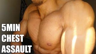 5 min Chest Assault - Follow Along Home Chest Workout (No Equipment Needed!!)