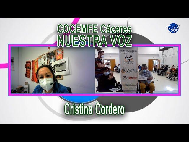 COCEMFE Nuestra Voz - Cristina Cordero