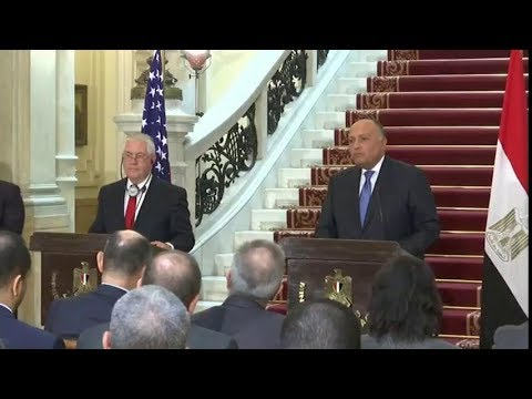 Secretary Tillerson Delivers Remarks with Egyptian Foreign Minister Shoukry