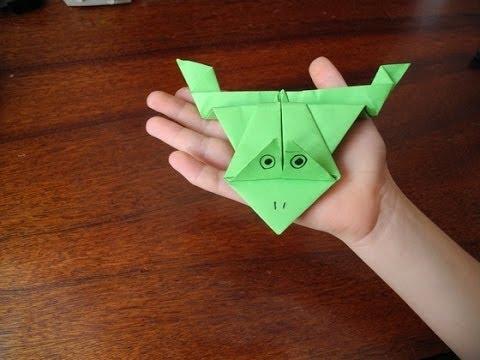 Оригами от Софийки (11 лет): как сделать прыгающую лягушку