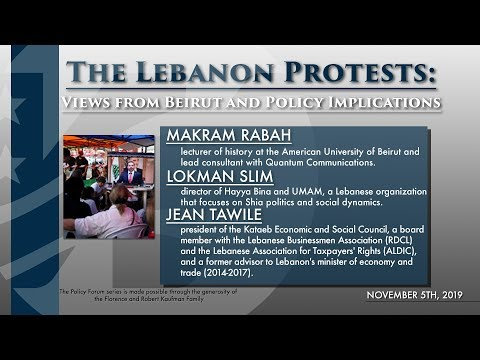 The Lebanon Protests: Views from Beirut and Policy Implications