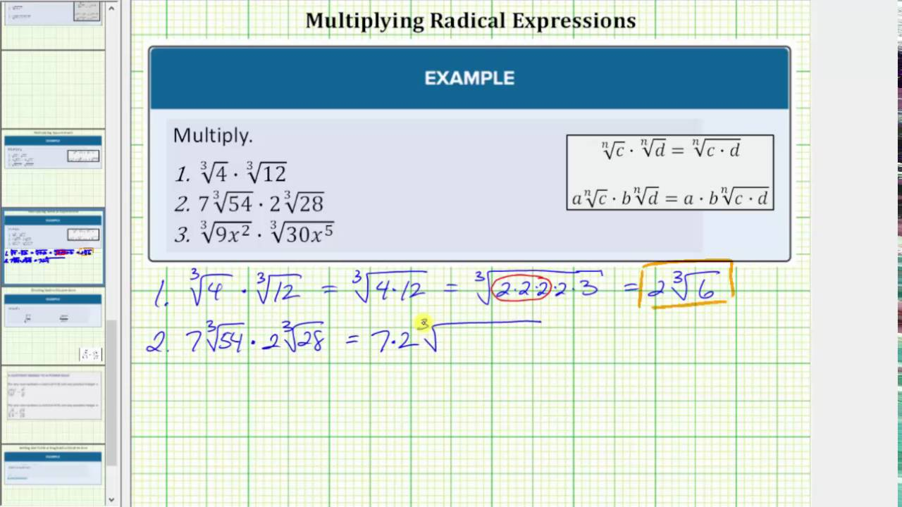 Operations on Radical Expressions | Beginning Algebra