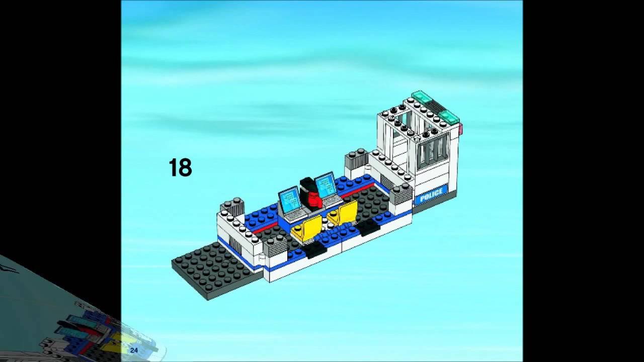 Lego 7288 Mobile Police Unit City Police Instruction Booklet Youtube