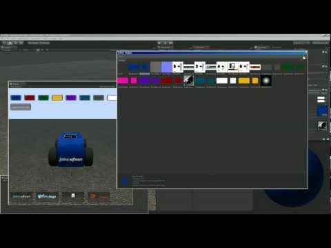 Creating a Vehicle Color Selection Menu - Unity Game Engine