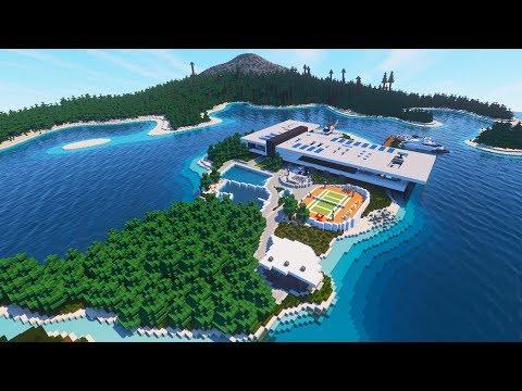 Minecraft: STUNNING Modern Mansion (Beach House)