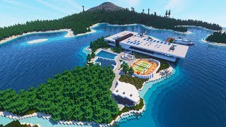 Minecraft: STUNNING Modern Mansion (Beach House)