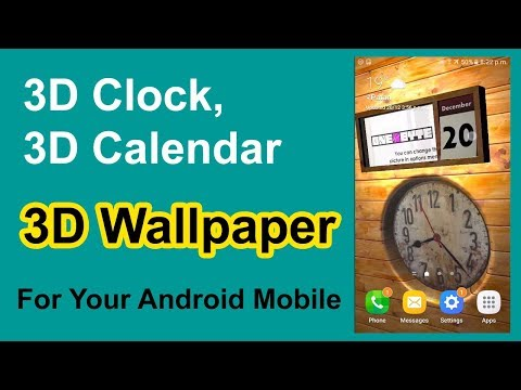3D Clock Calendar & Wallpaper For Your Android II App Review