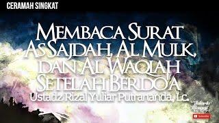Doa Tidur 9 Surat As Sajdah Dan Al Mulk Risalahmuslim