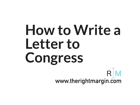 How to write a letter to congress with therightmargin youtube how to write a letter to congress with therightmargin spiritdancerdesigns Images