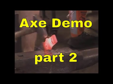 2014 Axe forging demonstration - Rocky Mountain Blacksmithing conference - part 2