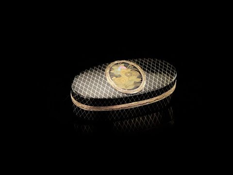 ANTIQUE 18thC FRENCH 18K GOLD MOUNTED & JAPANESE LACQUER SNUFF BOX c 1780