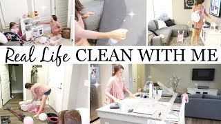 REAL LIFE MESS // CLEAN WITH ME // CLEANING ROUTINE // CLEANING MOTIVATION //