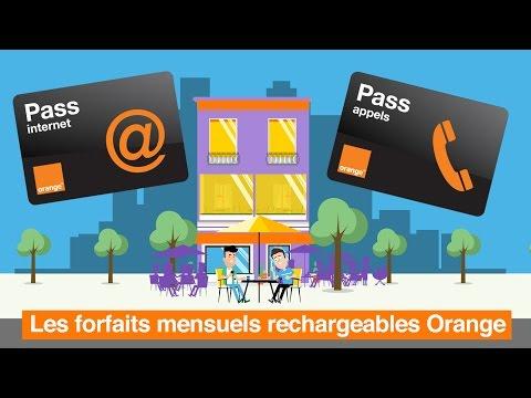 Les Forfaits Mensuels Rechargeables Orange