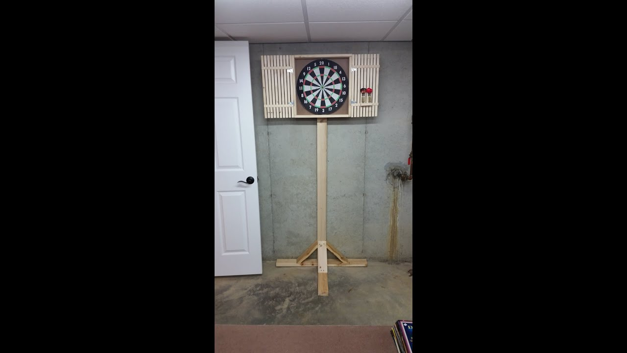Dart Board Cabinet Stand Youtube
