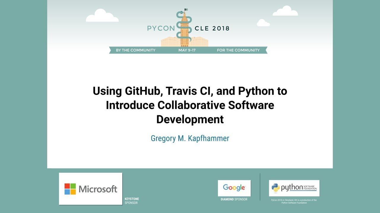 Image from Using GitHub, Travis CI, and Python to Introduce Collaborative Software Development