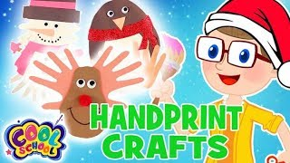 HANDPRINT CRAFTSChristmas Crafts with Crafty Carol Crafts for Kids Christmas Crafts