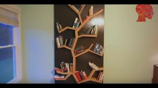 Woodworking # 3 - DIY How To Make A Tree Bookshelf - WoodWork woodworking woodworking projects woodworking for mere